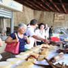 Local market food tasting