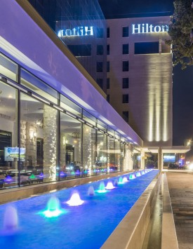 Podgorica Meetings - Hilton Exterior Night