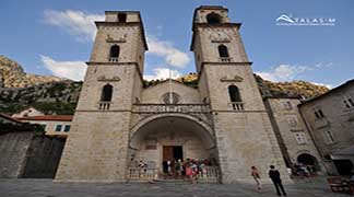 Cathedral Saint Tripun Old town Kotor