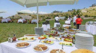 Trendy Incentive Destination - Outdoor Buffet at 1750 m. altitude