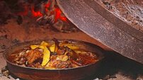 Meat baked under iron cast bell - Montenegro Local Food