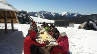 Perfect Winter Incentive Destination - Picnic is served on snow